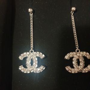 Chanel drop swarovski earrings